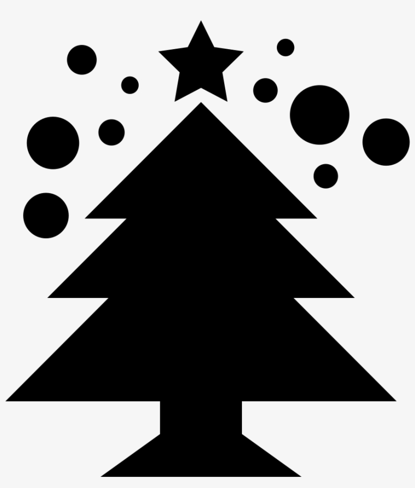 Christmas Tree Comments - Christmas Tree With Star Stencil, transparent png #2623327