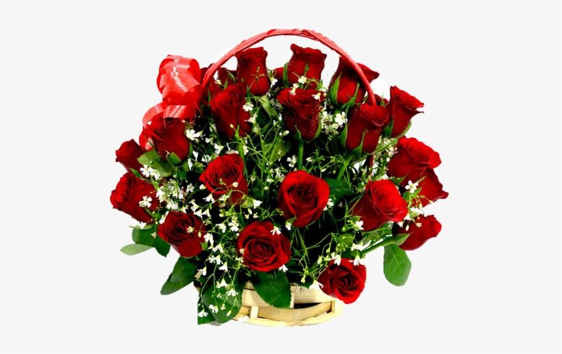 Dazzeling Flower Basket - Basket Flower Bouquet, transparent png #2624298