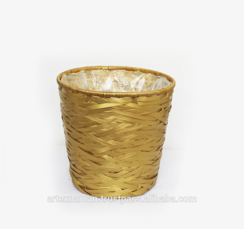High Quality Plait Bamboo Flower Basket,flower Pot - Storage Basket, transparent png #2624379