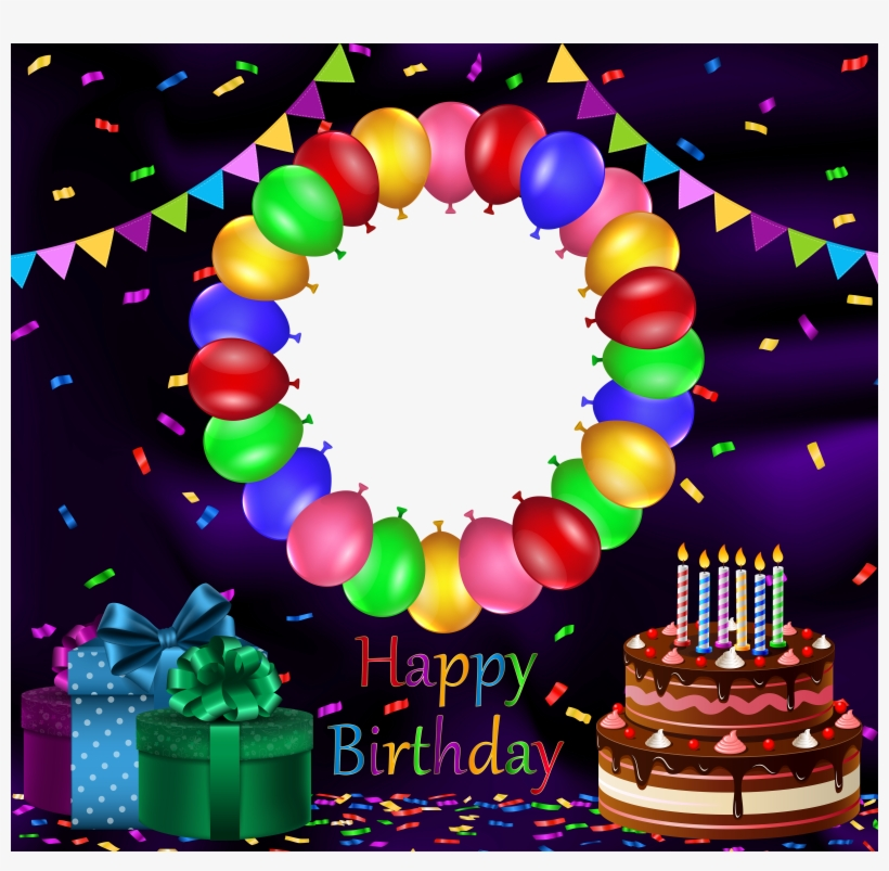 Birthday Transparent Png Frame, Is Available For Free - Happy Birthday Images With Photo Frame, transparent png #2624973