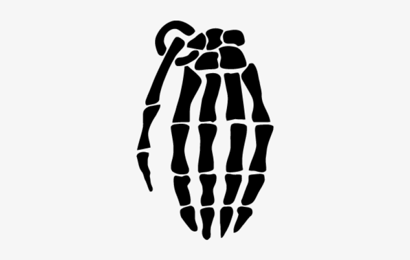Hand Logo Vector Skeleton Hand Grenade Tattoo Free Transparent