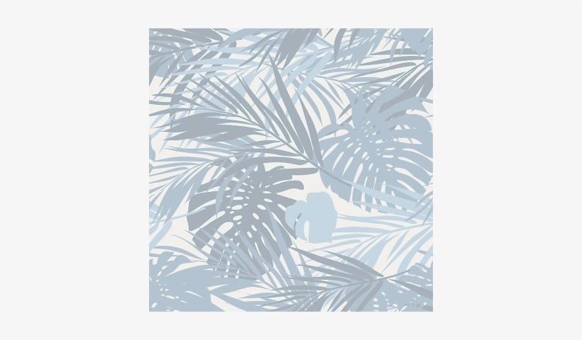 Leaf Pattern - Blue Indigo Camouflage 18-inch Canvas Wall Art Multi, transparent png #2625276