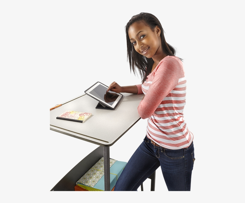 The Alphabetter Desk Is Making The News With Its Unique - Standing Desk Student Png, transparent png #2628985