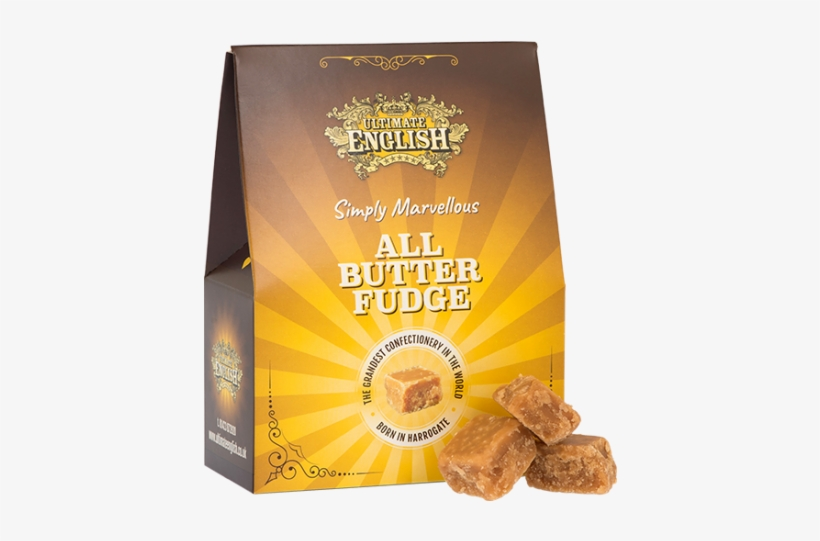 Ultimate English All Butter Fudge - Ultimate English Salted Caramel Fudge 150g, transparent png #2635388