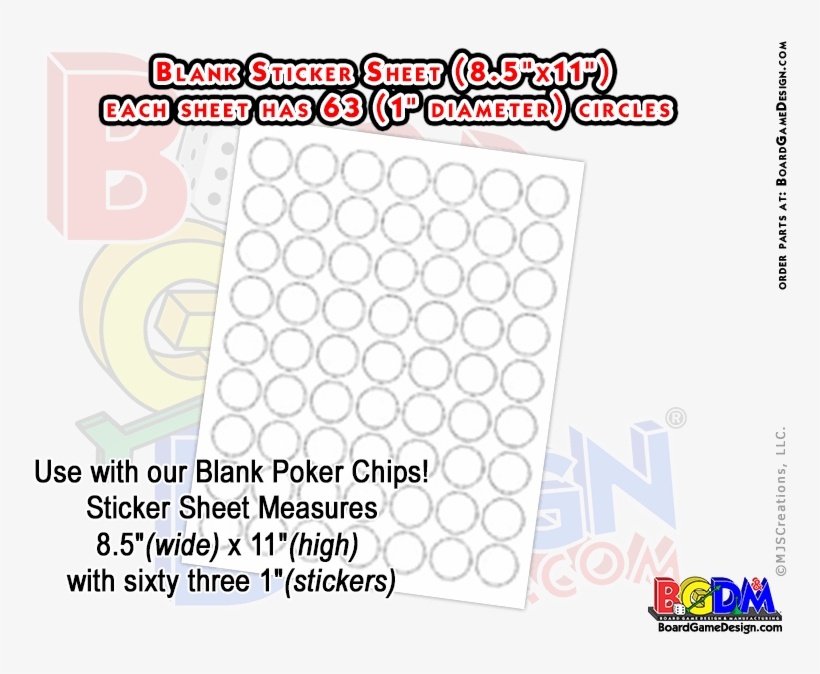 Free Blank Stickers