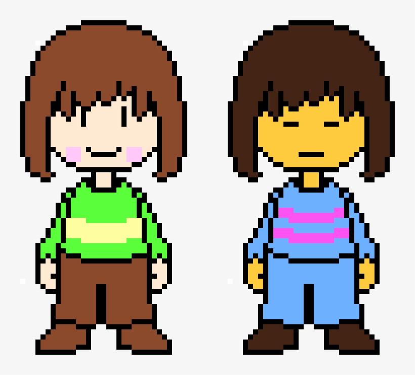 Undertale Chara And Frisk - Undertale Pixel Art Maker - Free