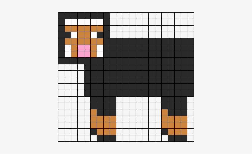 Minecraft Black Sheep - Minecraft Pixel Art Sheep - Free