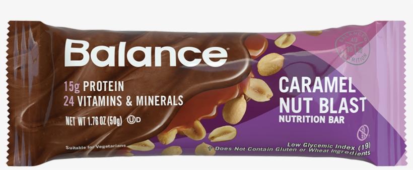 Caramel Nut Blast Balance Bar® - New Balance Bar Protein, transparent png #2638034