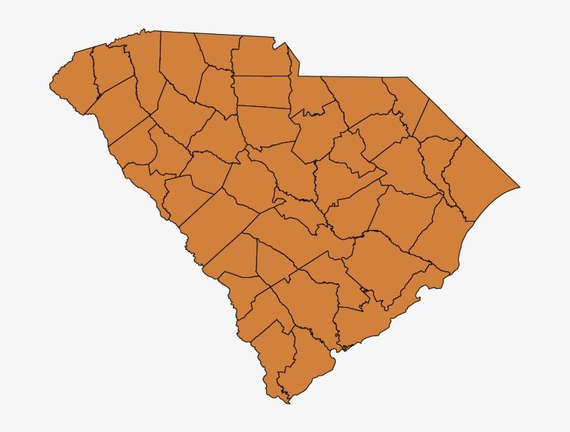 South Carolina Climate Zones - South Carolina Map State Png, transparent png #2638783