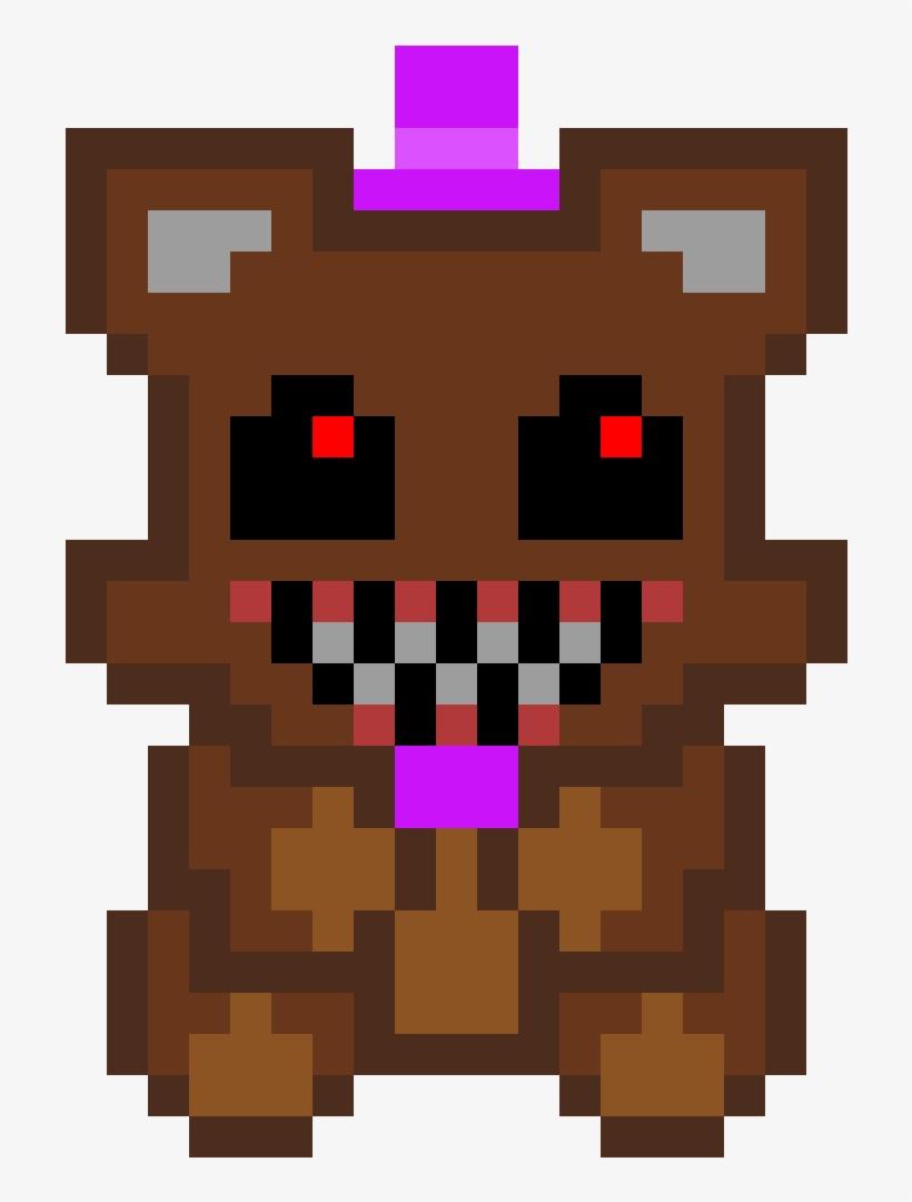 Nightmare Freddy - Fnaf Foxy Pixel Art - Free Transparent PNG ...