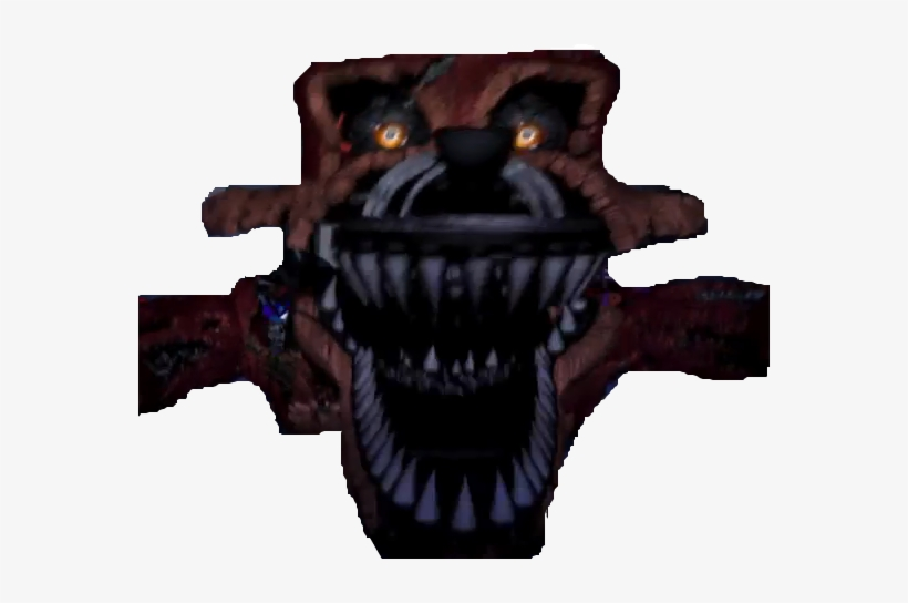 Fnaf Withered Nightmare Foxy Free Transparent Png Download Pngkey