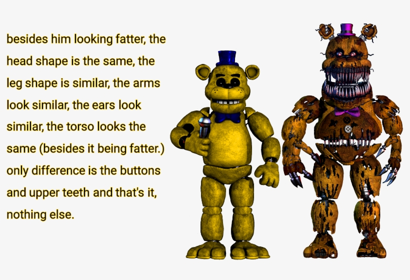 Question Is It Me Or Does - Five Nights At Freddy's All Freddys, transparent png #2639120