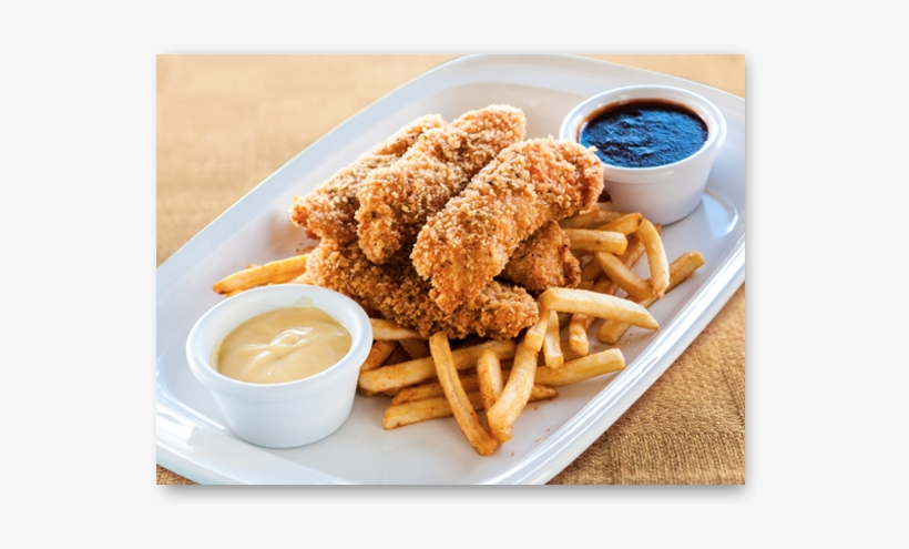 Hand Breaded Chicken Tenders - French Fries, transparent png #2639283