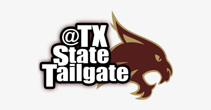 Clip Art Black And White Download Tailagate Tx Football - Texas State University, transparent png #2643611