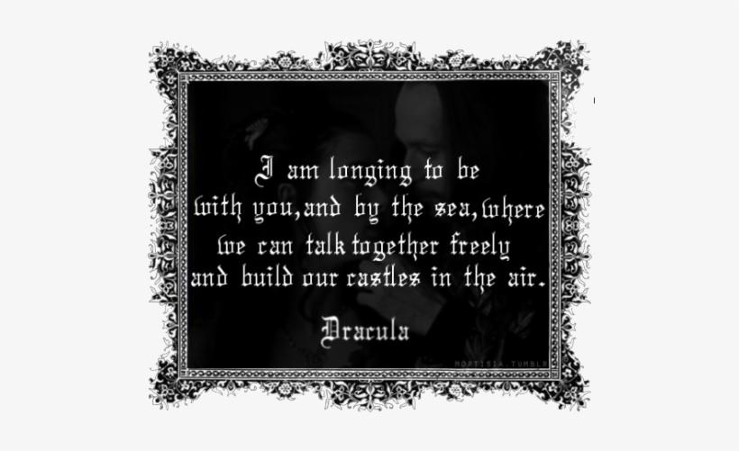 Bram Stoker Dracula Transparent - Bram Stoker Dracula Movie Quotes Mina, transparent png #2643995