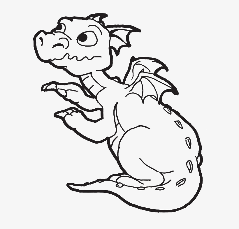 A New Born Baby Dragon Coloring Pages Dragon Coloring Clip Art