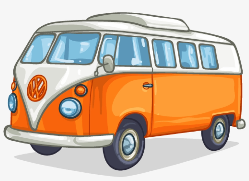 Campervan Camper Van Cartoon Free Transparent Png