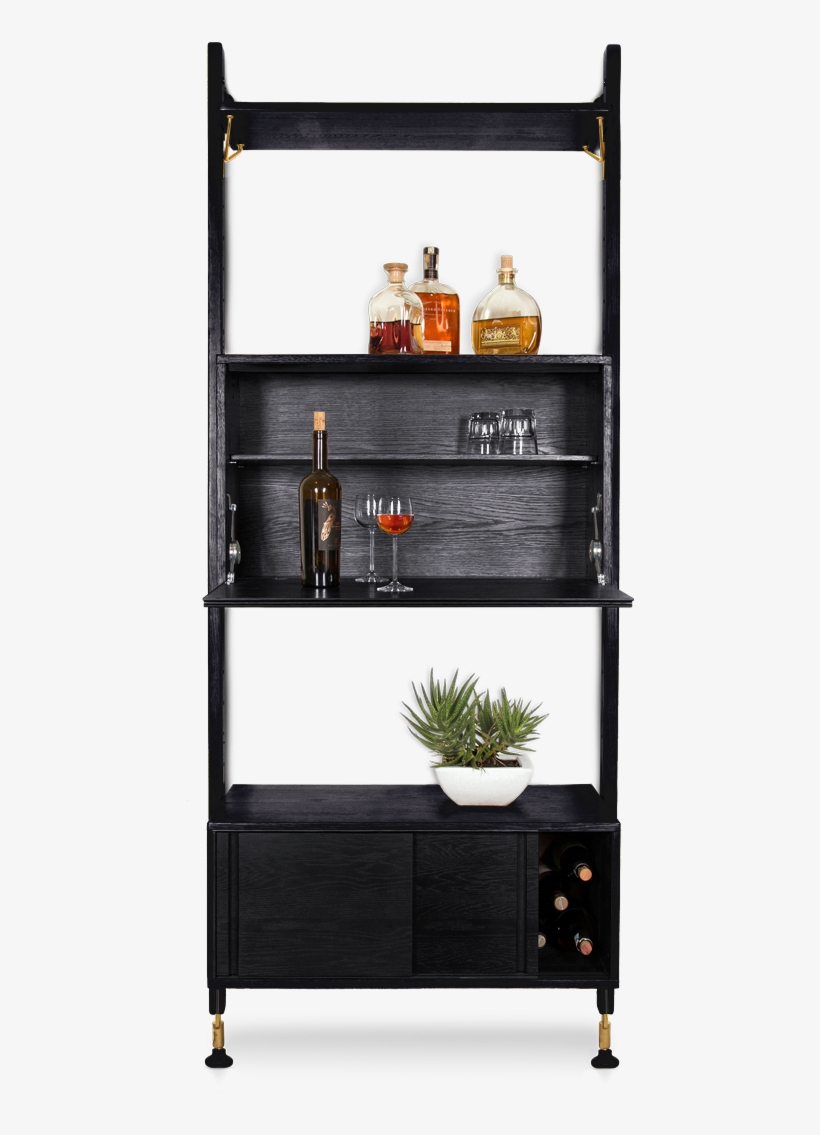 166 B Theo Wall Unit With Bar Counter V 1516683887 Brayden Studio Lowes Shelving Unit Bar W Storage Free Transparent Png Download Pngkey