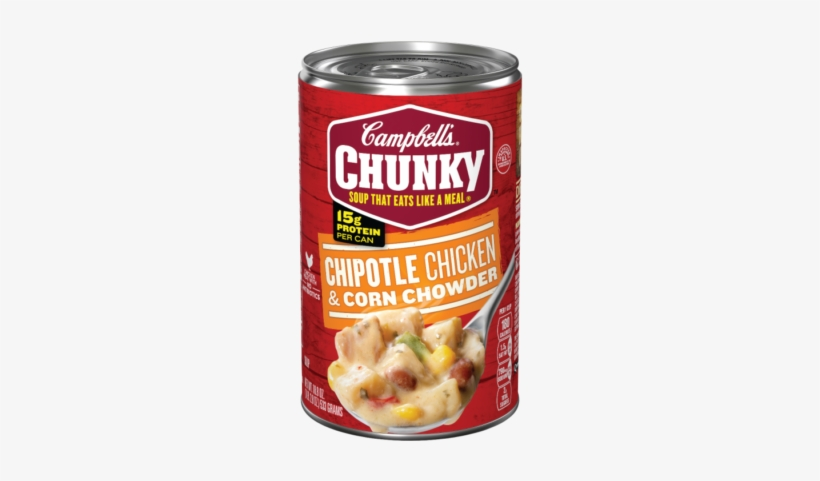 Chipotle Chicken & Corn Chowder - Campbell's Chunky Chicken Noodle Soup, transparent png #2660045