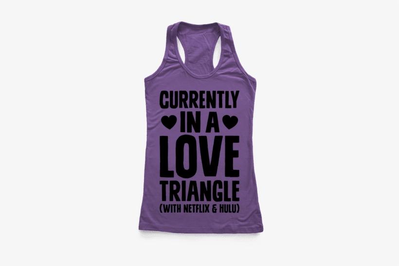 Love Triangle Racerback Tank Top - Bachelorette Tank Tops, transparent png #2660127