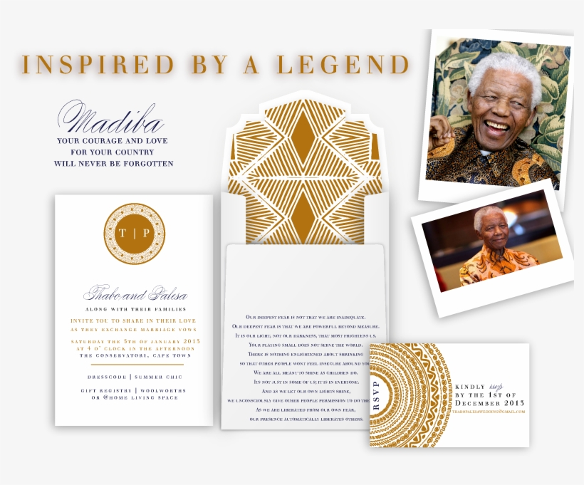 Afrocentric Wedding Invitations Magnificent African South Africa