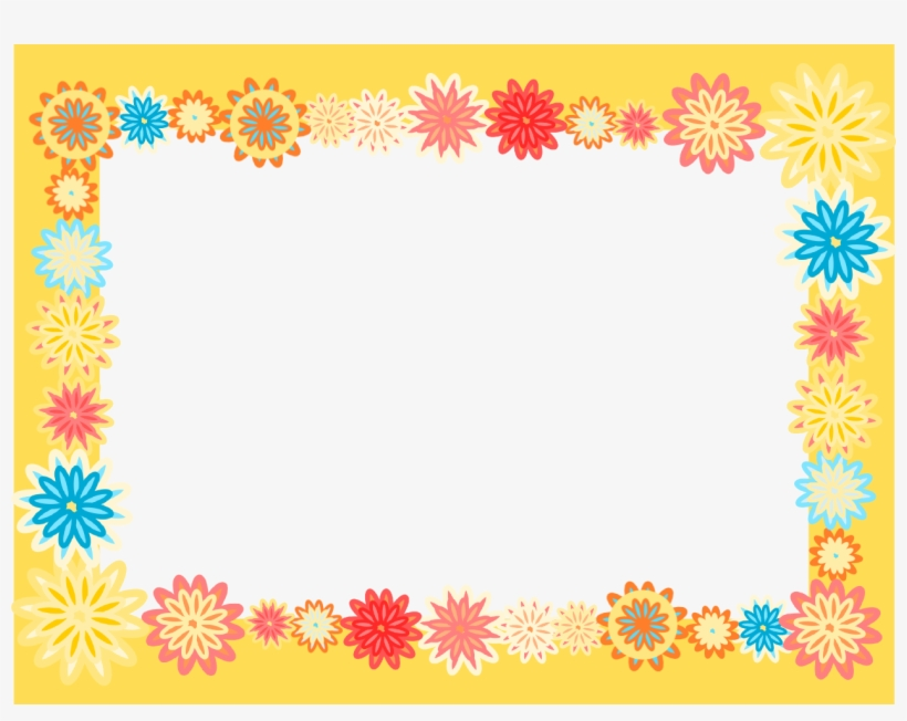 Flower Border Png For Kids - Scrapbook Flower People Working Themed Border Clipart, transparent png #2666047