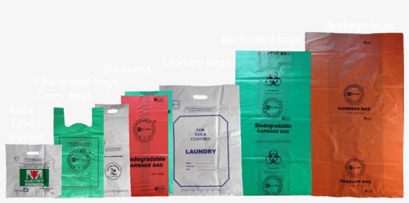 13×16″ Biodegradable Plastic Carry Bags - Biodegradable Plastic Bags Manufacturer In Mumbai, transparent png #2666311