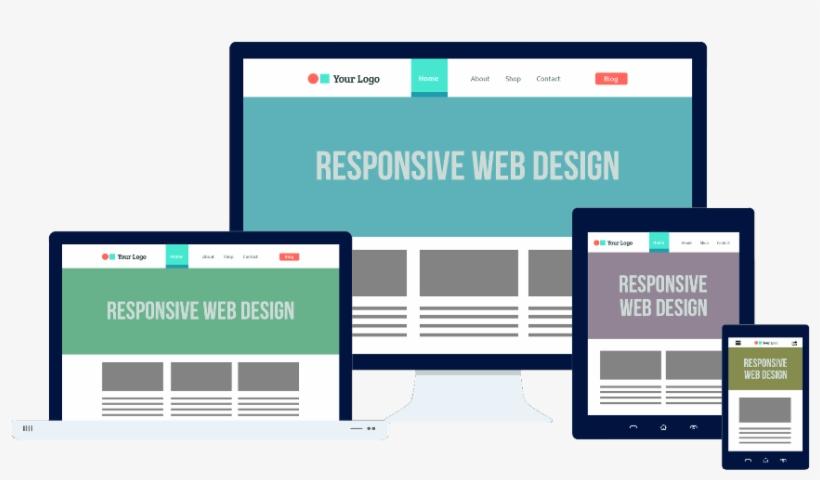 Custom Website Vs Wix - Responsive Flat Web Design, transparent png #2669865