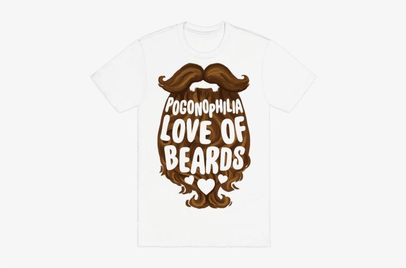 The Love Of Beards Mens T-shirt - Dog Halloween T Shirt, transparent png #2674162