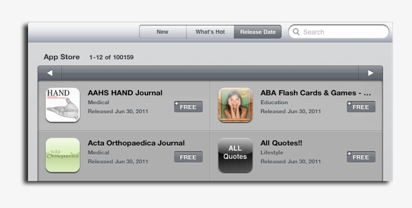 Any Public Acknowledgement By Apple, Though Earlier - Ipad App Store, transparent png #2675025