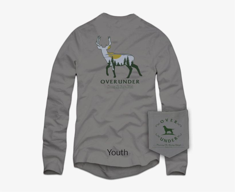 L/s Youth Harvest Moon - Over Under L/s Timber Ghost - Size: Medium, transparent png #2676784