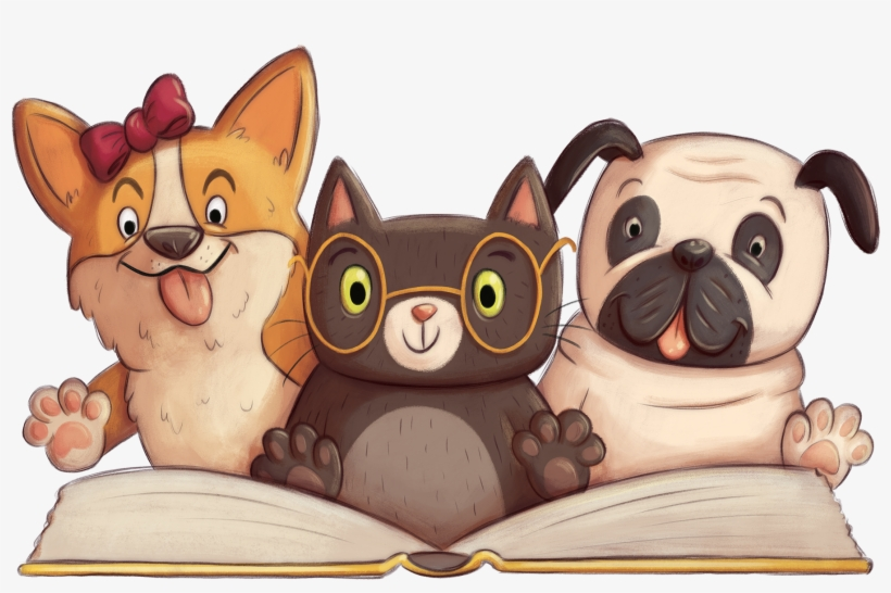 Animal Clipart Read - Paws For Books Book Fair, transparent png #2677458