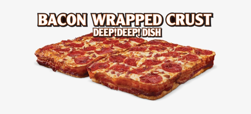 Little Caesars Has Not Only Topped Their Newest Pizza - Little Caesars Bacon Stuffed Crust, transparent png #2680674