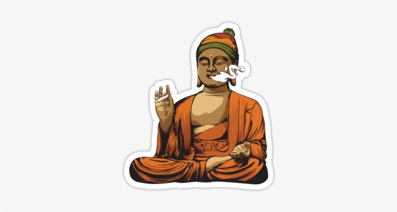 Buddha Smoking A Blunt By Bryants - Buddha Smoking A Blunt, transparent png #2681680