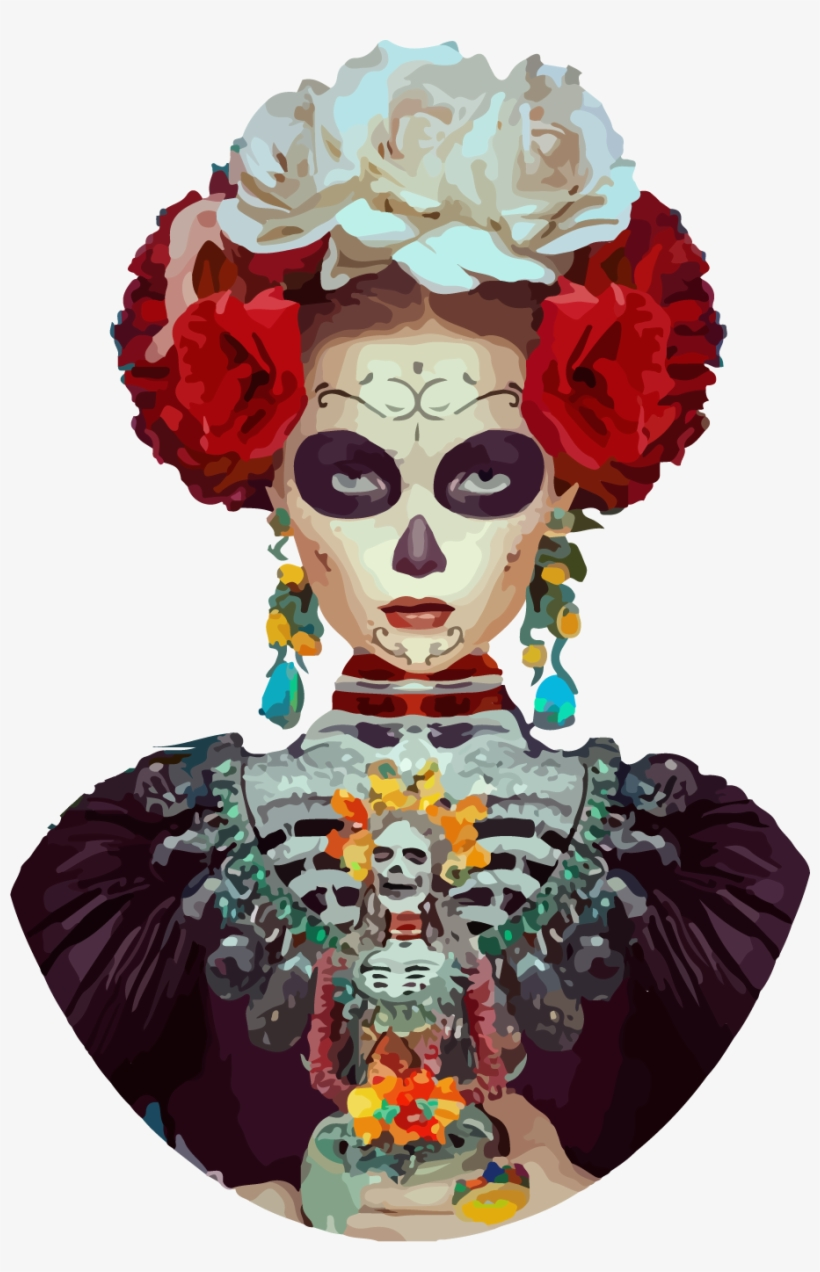 Pin By Mar Abelle On Art Craft - Frida Kahlo Day Of The Dead Costume, transparent png #2684174