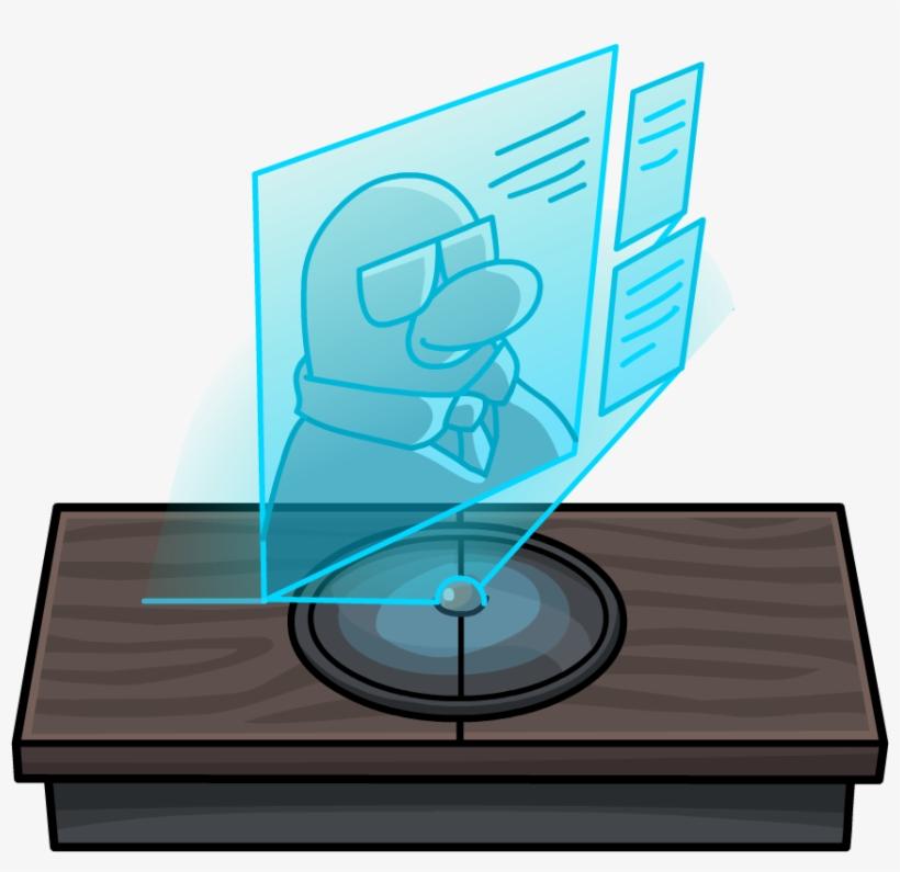 Covert Agent Station Director Hologram - Club Penguin Agent Furniture, transparent png #2684300
