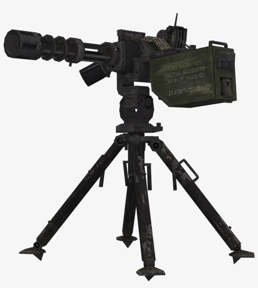 Graphic Black And White Stock Sentry Gun Call Of Duty - Call