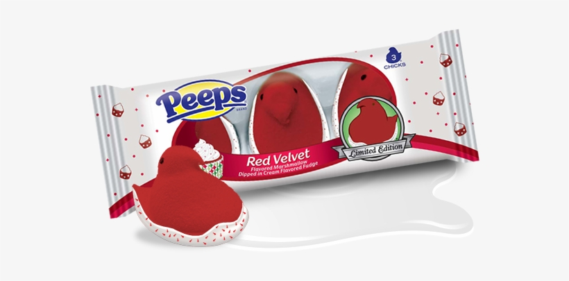 Red Velvet Isn't Just For Cupcakes And Waffles - Just Born Marshmallow Chicks - 2 Count, 3 Oz Box, transparent png #2687325