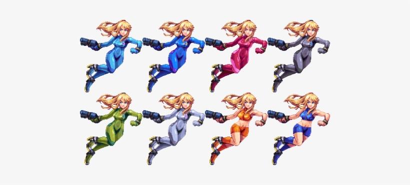 Pixelart Smash Bros Zero Suit Samus Super Smash Bros