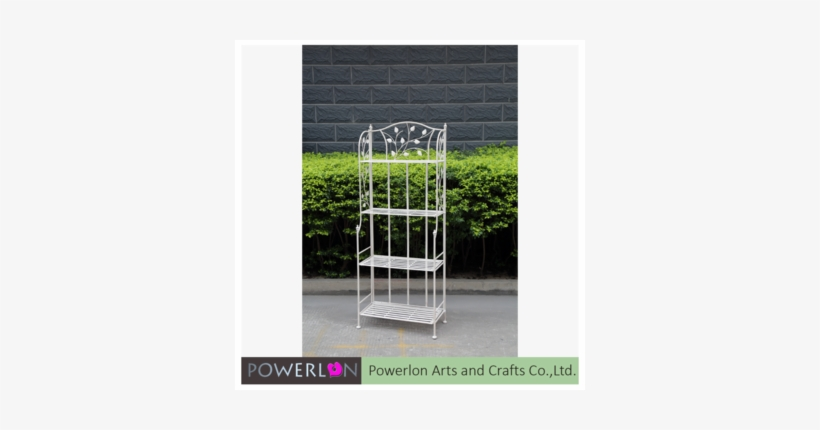 Wrought Iron Metal Antique White Flower Stand Shelf Tiered Plant Stand Free Transparent Png Download Pngkey