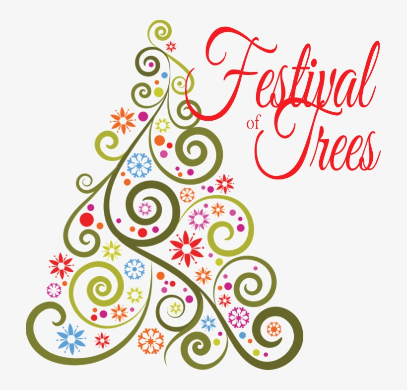 Festival Clipart Round - Wacky Christmas Tree Drawings, transparent png #2690936