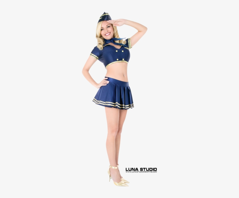 Hot Stewardess - Sexy Halloween Costume For Women, transparent png #2690940