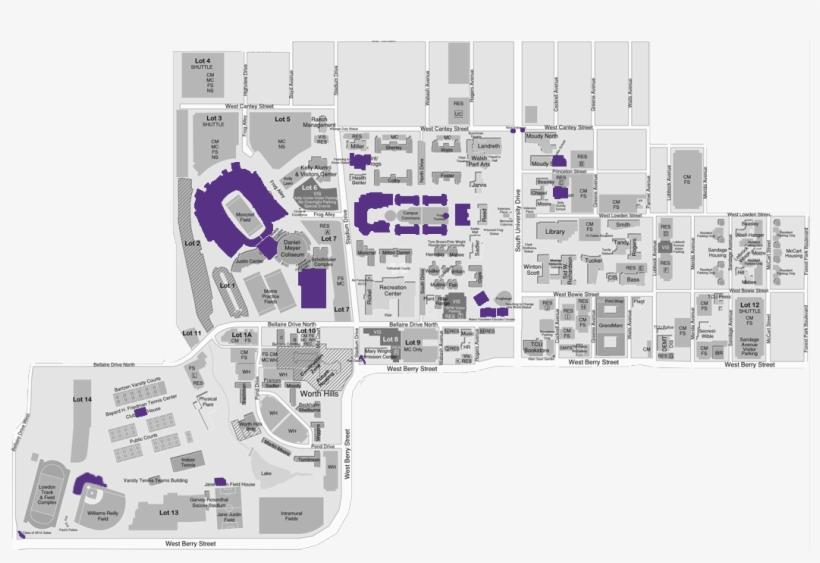 Visit Tcu Campus Map Free Transparent Png Download Pngkey