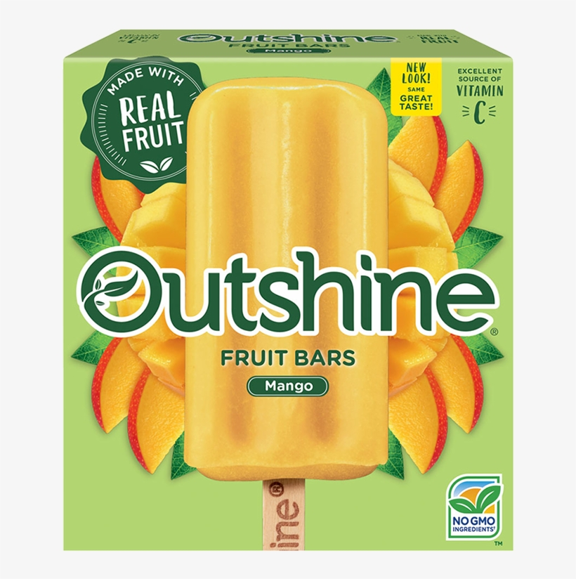 Outshine Mango Fruit Bars - Outshine Fruit Bars Mango, transparent png #2697263