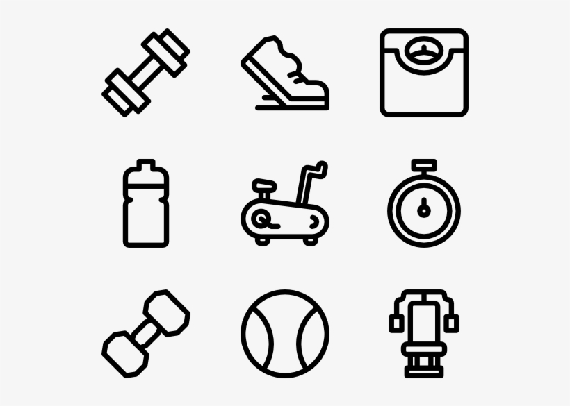 Dumbbell Icons - Login Icon Vector - Free Transparent PNG