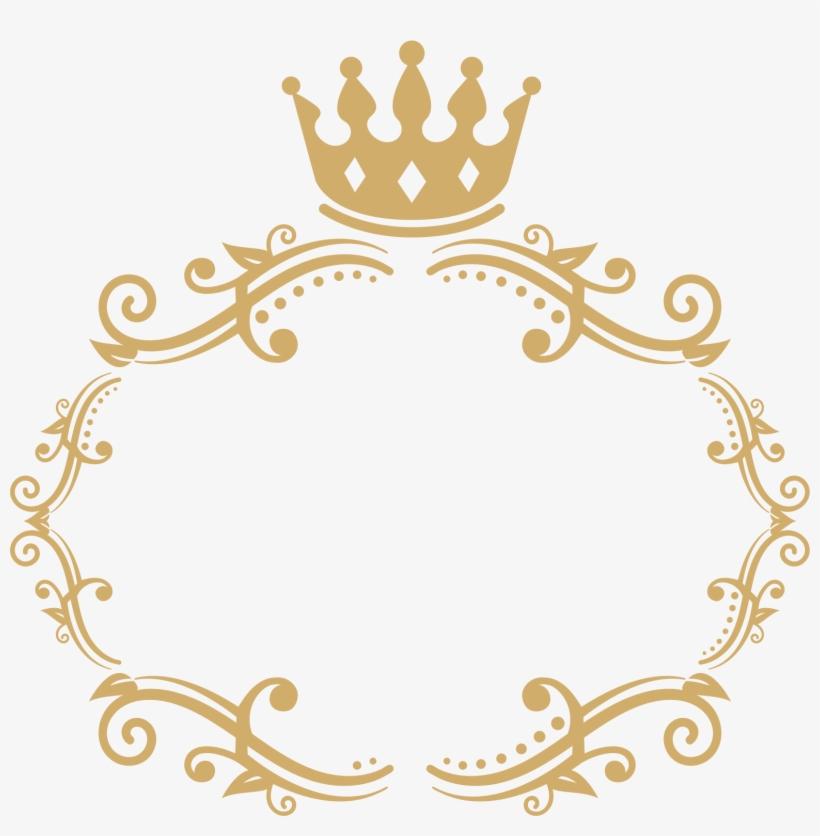 Frame 3 - Crowns Border Clipart, transparent png #270702