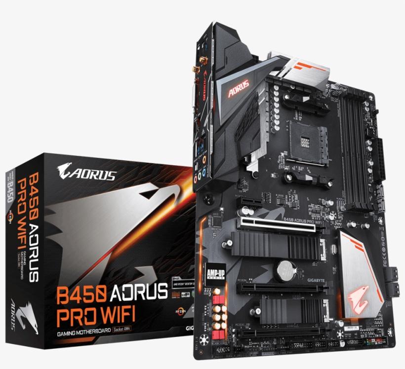 B450 Aorus Pro Wifi - Gigabyte B450 Aorus Pro Wifi, transparent png #270845