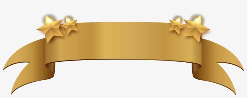 Golden Clipart Title Banner - Gold Banner Ribbon Png, transparent png #271238