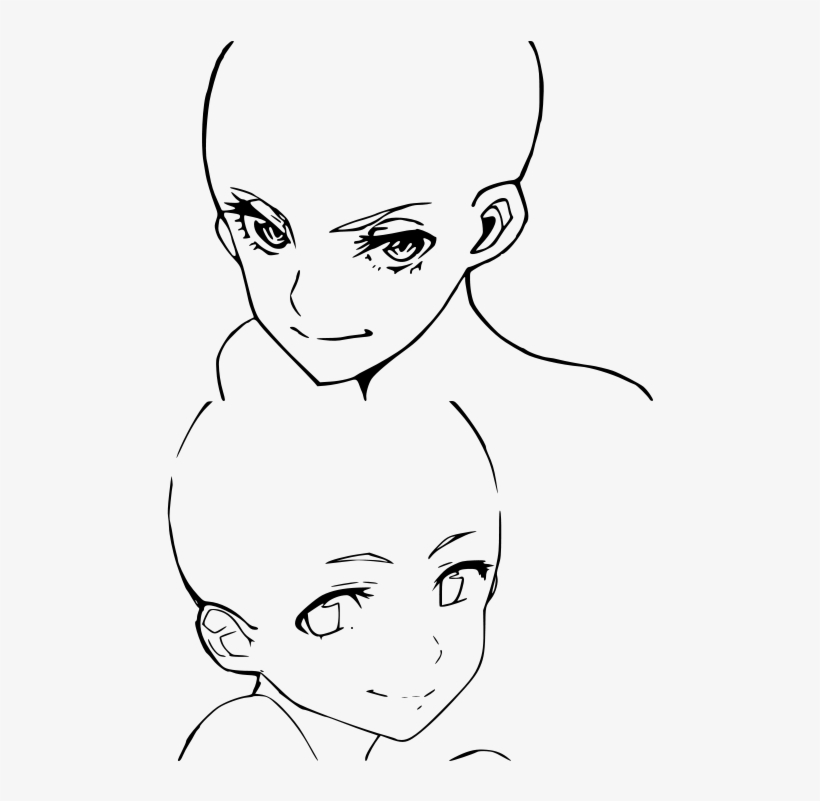 Template Female Anime Head Bases Transpa Png 271703