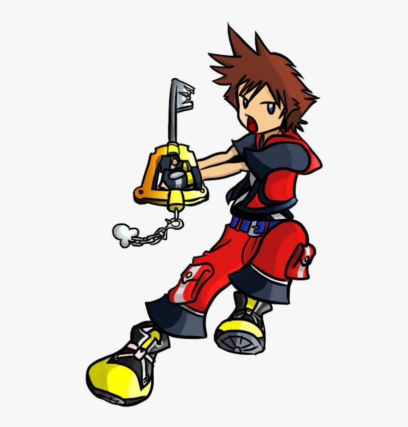 Kingdom Hearts 3d - Chibi Sora Kingdom Hearts, transparent png #271732